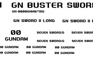 HG 00ガンダム セブンソードで使用したデカール